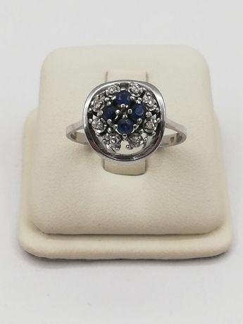 Złoty pierścionek z brylantem Brylanty, Szafiry / Sklep, Rzgowska24