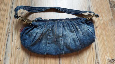 Torebka jeansowa Oasis malutka do ręki