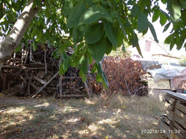 Дрова, фруктовые деревья, доски