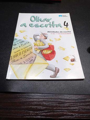 """Caderno de atividades de Português """"Olhar a escrita"""" 4-4ºano"""