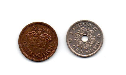 moedas antigas dinamarca