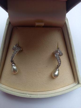 Srebrne kolczyki z perlami