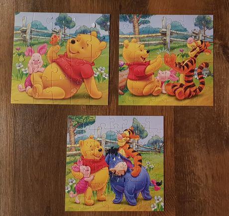 Puzzle Kubuś Puchatek 3w1