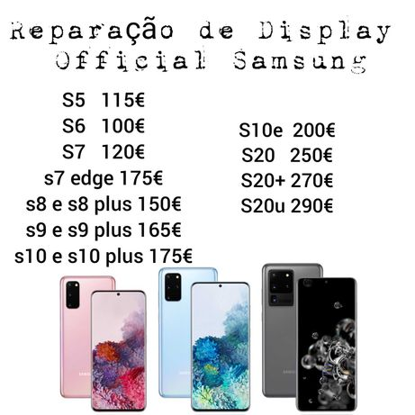 Reparação de display Official Samsung