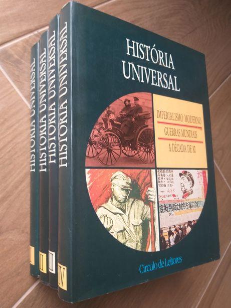 Livros _ História Universal / 4 Volumes por 19 €