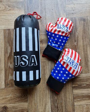 Zestaw do boksowania dla dzieci boks rękawice worek USA