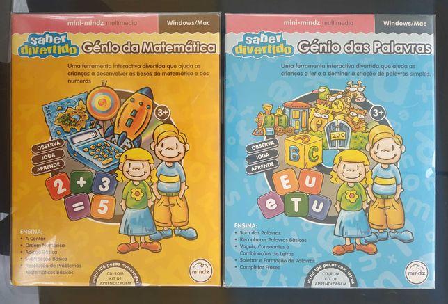 Conjunto de jogos de computador didáticos