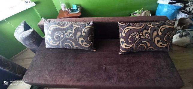 Łóżko wysuwane brązowe