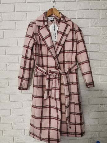 Nowy piękny płaszcz must have jesień zima hit w kratę NA-KD 36 S