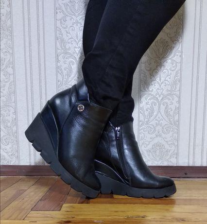 Женские ботинки,сапоги, кожа, размер 38