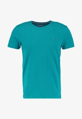 TOMMY HILFIGER Stretch Slim-fit TEE Koszulka Męska L/M Oryginalna