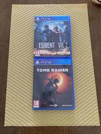 PlayStation Ps 4 Resident Evil 2, Shadow of The Tomb Raider! Wymiana!