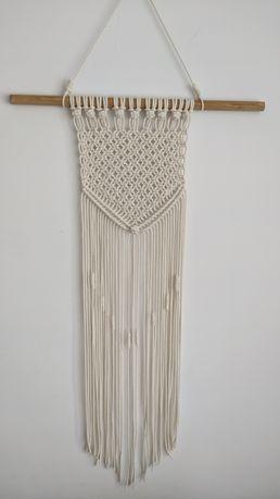 Makrama handmade dekoracja wisząca boho rękodzieło