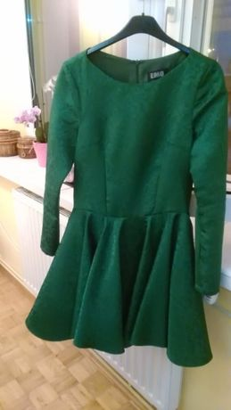 suknia w tłoczony wzór, rozmiar 36