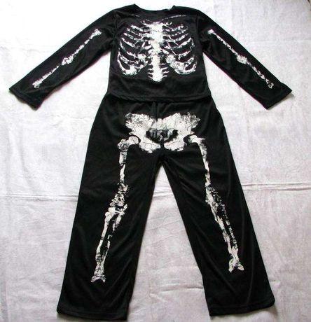 Strój karnawałowy szkielet kościotrup r 110-116, 5-6 l