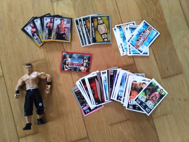 WWE Slam Attax 100 Cartas Variadas + Figura John Cena (Como Novos)