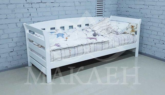 Елегантне букове односпальне ліжко 80 на 190