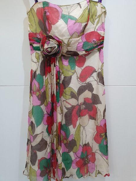 Sukienka w kwiaty zwiewna z klasą Instagram 38 40 lub malutkie 42 M L