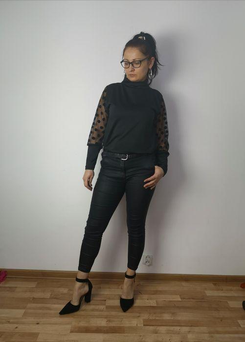Czarna bluzka tiul kropki grochy eVa design Lidzbark Warmiński - image 1