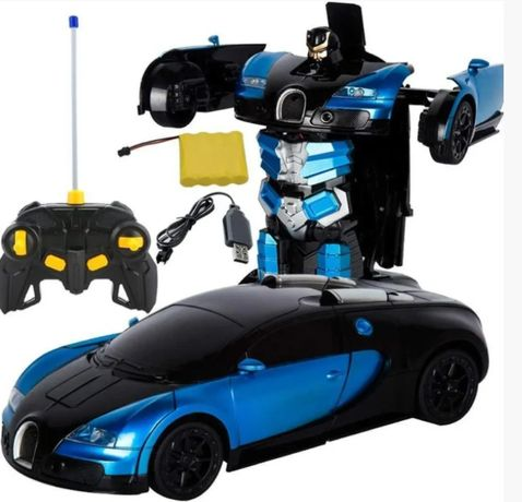 Машинка радіокерована трансформер Robot Car Bugatti