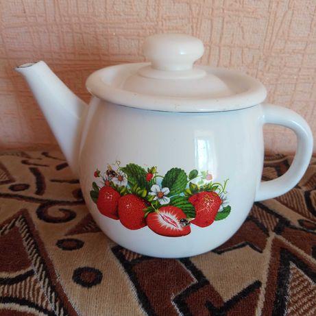 Чайник эмалированный , 1 литр