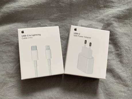 Szybka Ładowarka + Kabel Apple 18W USB-C iPhone 8/X/11/iPad ORYG