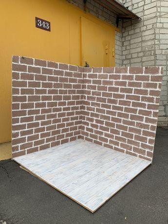 Фотофон деревянный бетон большой