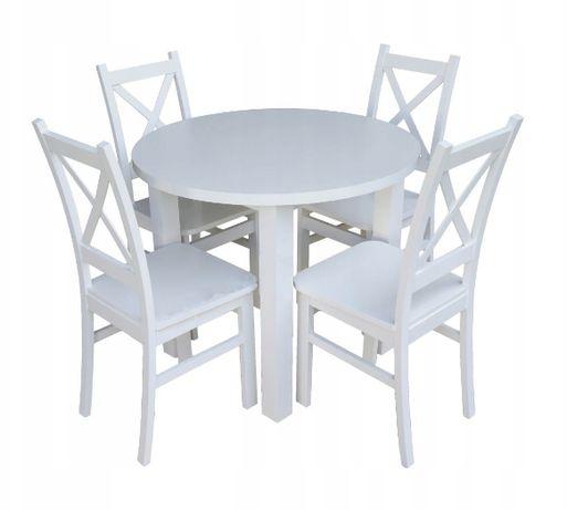 Mały zestaw Okrągły stół z 4 krzesłami. Do Kuchni/Jadalni!! TANIO!