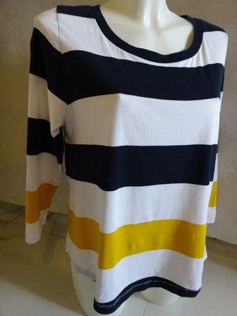 cos t-shirt, bluzka w paski 100 % cotton r. M oversize