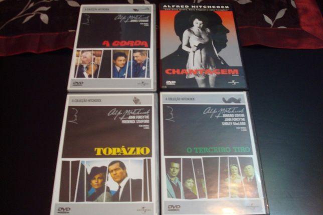 8 dvds originais de alfred hitchcock, os passaros, sabotagem etc