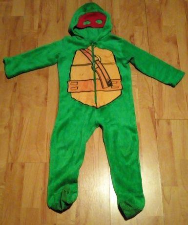 Pajac przebranie Żółw Ninja z czerwonymi okularami na ok 104 cm