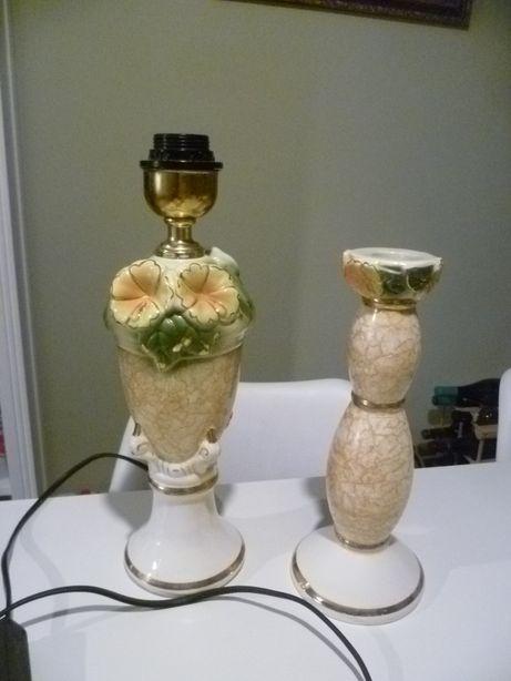 porcelanowa lampka +świecznik