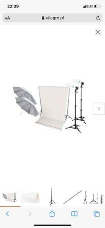 Zestaw studio FOTOGRAFICZNE światło 100W + statyw