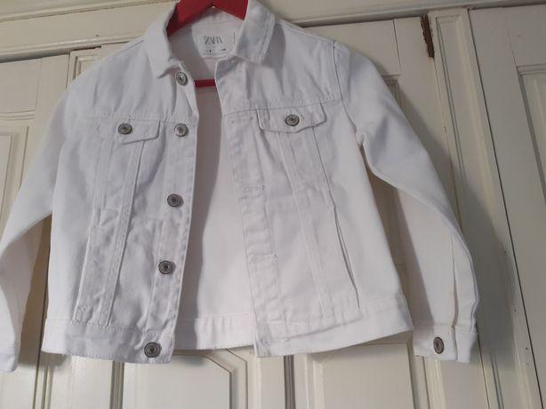 Casaco Zara Branco tm 7/8 Anos