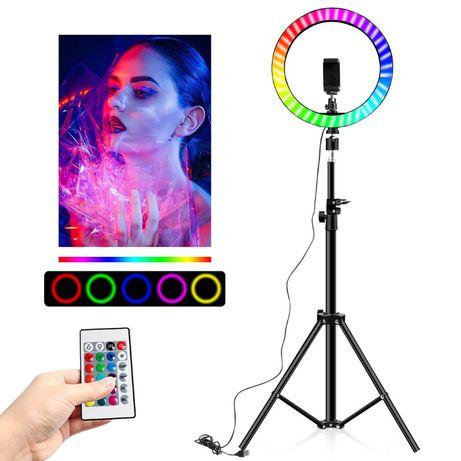 LAMPA Pierścieniowa LED RING RGB 160CM Tik Tok Youtube statyw do zdjęć