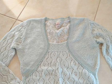 Sweterek damski seledynowy r 38