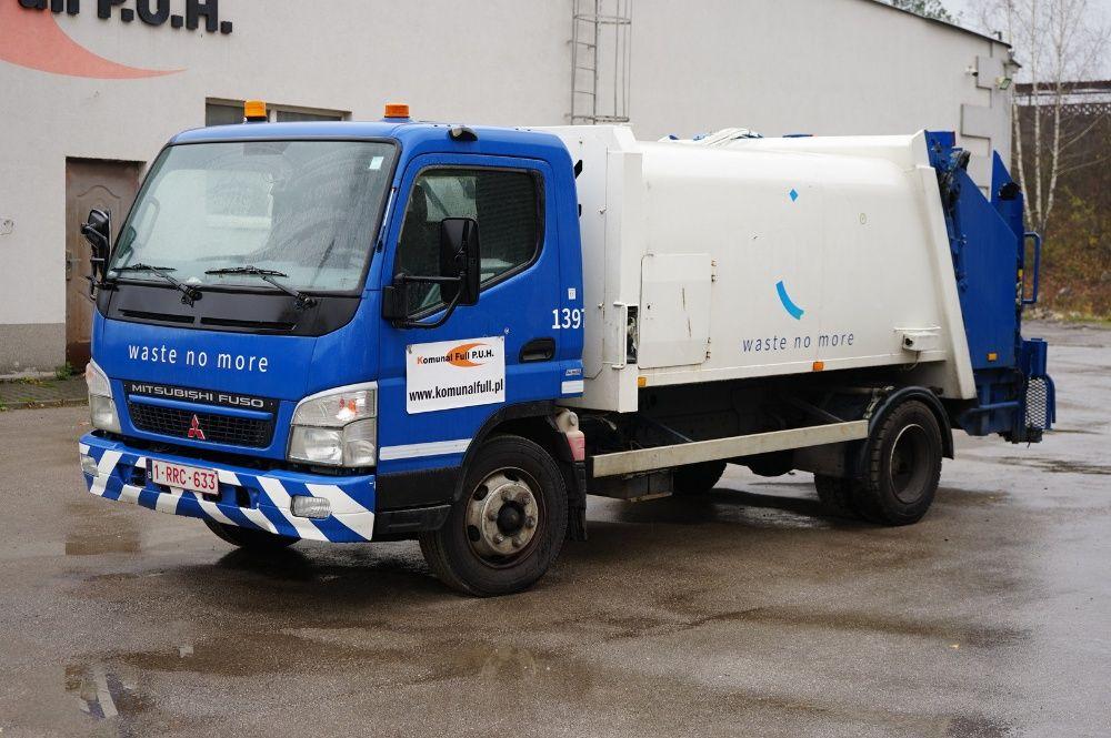 Mitsubishi FUSO dwuosiowa śmieciarka miejska 6m3 w całości na części