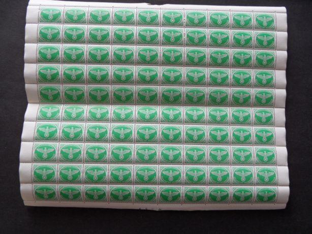 deutsche reich Feldpost Mi.4 Arkusz czysty 100 znaczki pocztowe
