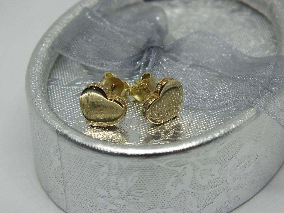 **Nowe złote kolczyki serduszka 1,37g p.585-Lombard Stówka** Grudziądz - image 1