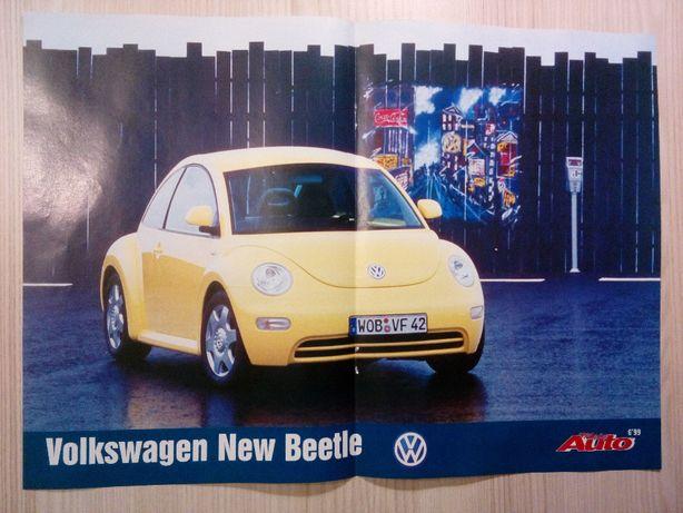 Plakat Poster VW New Beetle 29cm x 40cm Samochody Auto Cars Garbus