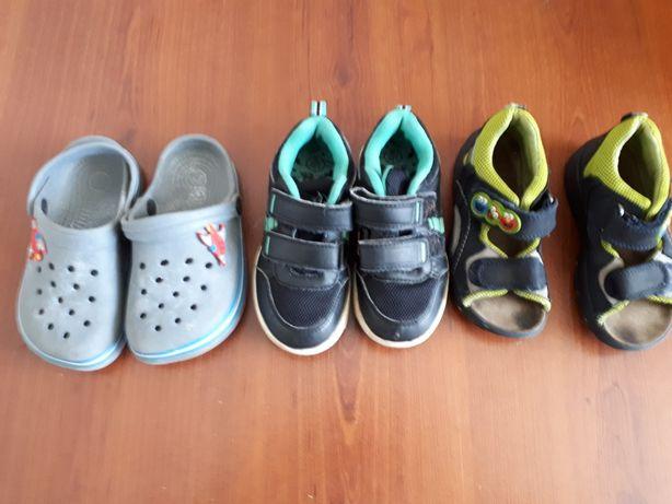 Buty dla chłopca r.25, klapki, adidasy, sandały