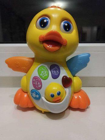 Детская интерактивная развивающая игрушка «Желтый утенок» Hola Toys