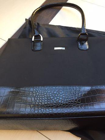 Czarna torba aktówka A4 Nowa