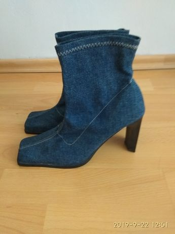 Botki jeans buty jesienne 38