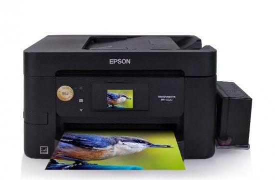 МФУ Epson Pro WF-3720DWF в комплекте с БСНПЧ и чернилами