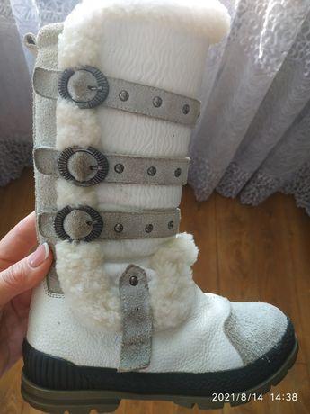 Зимні шкіряні чоботи