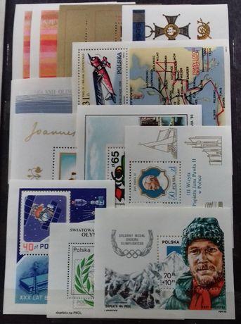 znaczki polskie Bloki zestaw 13