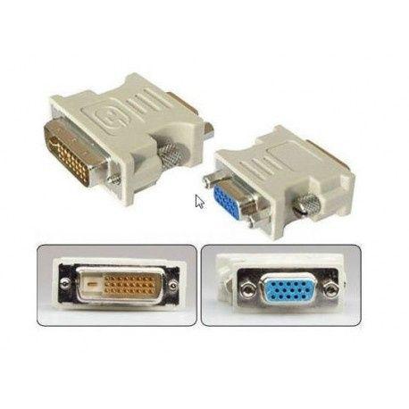 Adaptador DVI-I ou DVI-D Macho a VGA Femea