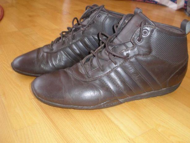 Adidas Кожаные кроссовки на флисе