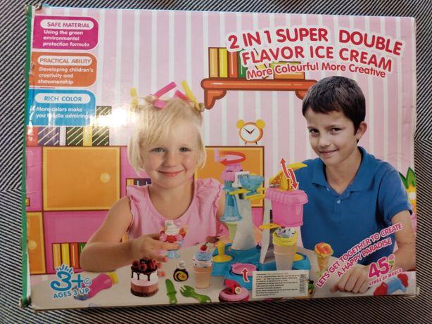 Тесто для лепки / Фабрика мороженого / Набoр Plasticine Magical